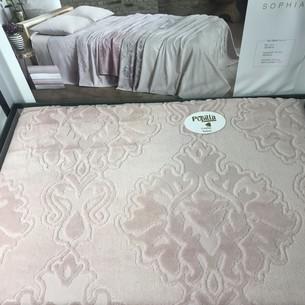 Летнее постельное белье с велюровым покрывалом Pupilla SOPHIA хлопок сухая роза евро