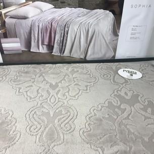 Летнее постельное белье с велюровым покрывалом Pupilla SOPHIA хлопок тёмно-бежевый евро
