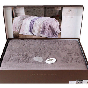 Махровая простынь для укрывания Pupilla AMAZON хлопок светло-лиловый 220х240