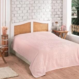 Махровая простынь для укрывания Gulcan ESTER хлопок розовый 200х220