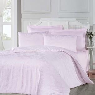 Постельное белье Altinbasak BENNA хлопковый сатин-жаккард розовый евро