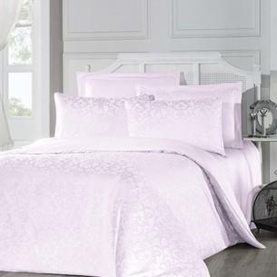 Постельное белье Altinbasak ELIZYA хлопковый сатин-жаккард розовый евро