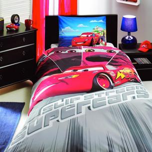 Детское постельное белье TAC CARS FACE (АКЦИЯ) 1,5 спальный