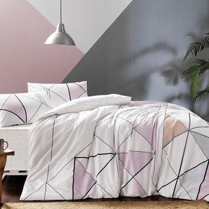 Комплект подросткового постельного белья TAC MARVEL хлопковый ранфорс пудра 1,5 спальный