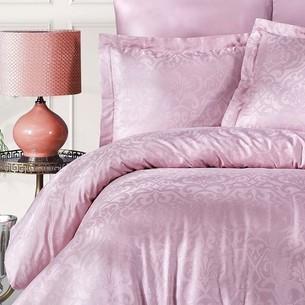 Постельное белье Ecosse SATIN JAKARLI DAMASK хлопковый сатин-жаккард розовый евро