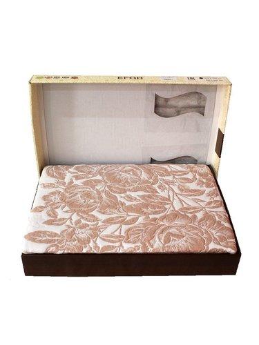 Покрывало гобеленовое без наволочек Efor DIAMOND жаккард хлопок/полиэстер кофейный 235х260, фото, фотография