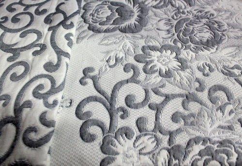 Покрывало гобеленовое Efor EDA жаккард хлопок/полиэстер серый 170х240, фото, фотография