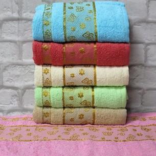 Набор полотенец для ванной 6 шт. Gulcan KELEBEK хлопковая махра 70х140