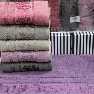 Набор полотенец для ванной 6 шт. Gulcan SUMBUL хлопковая махра 70х140