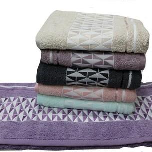 Набор полотенец для ванной 6 шт. Gulcan TILE хлопковая махра 70х140