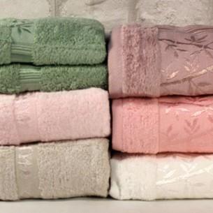 Набор полотенец для ванной 6 шт. Pupilla MIASOFT SILVER 2 бамбуковая махра 50х90