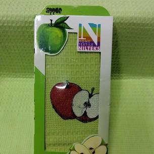 Кухонное полотенце в подарочной упаковке Nilteks хлопковая вафля яблоко 40х60
