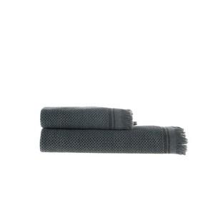Пештемаль (полотенце, парео) Buldan's PARGA хлопок антрацит 80х160