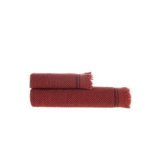Пештемаль (полотенце, парео) Buldan's PARGA хлопок бордовый 80х160