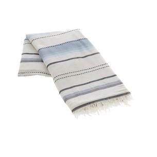 Пештемаль (пляжное полотенце, парео) Buldan's SALINAS хлопок серый 90х150