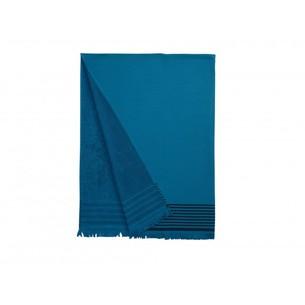 Полотенце-палантин пештемаль Buldan's IBIZA хлопок синий 90х160