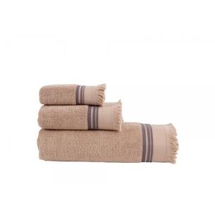 Полотенце для ванной Buldan's ALMERIA хлопковая махра песочный 90х150