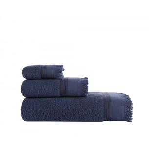 Полотенце для ванной Buldan's ALMERIA хлопковая махра тёмно-синий 90х150