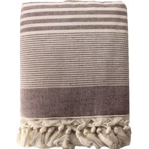 Пляжное полотенце, парео, палантин (пештемаль) Pupilla ATINA хлопок сиреневый 90х170