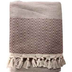 Пляжное полотенце, парео, палантин (пештемаль) Pupilla CANADA хлопок коричневый 90х170