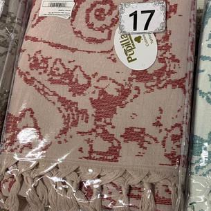 Пляжное полотенце, парео, палантин (пештемаль) Pupilla LAGUN хлопок красный 90х170