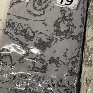 Пляжное полотенце, парео, палантин (пештемаль) Pupilla LAGUN хлопок серый 90х170