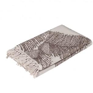 Пляжное полотенце, парео, палантин (пештемаль) Pupilla MAXEL хлопок кофейный 90х170