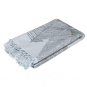 Пляжное полотенце, парео, палантин (пештемаль) Pupilla MAXEL хлопок серый 90х170
