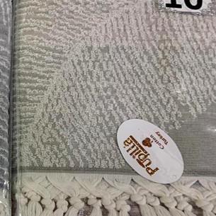 Пляжное полотенце, парео, палантин (пештемаль) Pupilla MITA хлопок серо-сиреневый 90х170