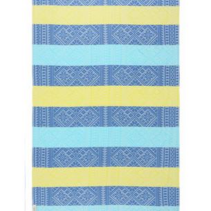 Полотенце пештемаль для пляжа, сауны, бани Begonville BAMBOO AZTEC бамбук/хлопок blue, yellow 100х180