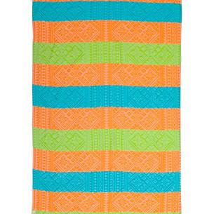 Полотенце пештемаль для пляжа, сауны, бани Begonville BAMBOO AZTEC бамбук/хлопок orange, green 100х180