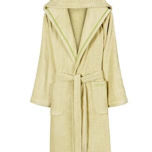 Халат женский Soft Cotton STRIPE хлопковая махра зелёный L