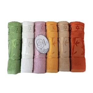 Набор полотенец для ванной 6 шт. Luzz ELITE бамбуковая махра 50х90