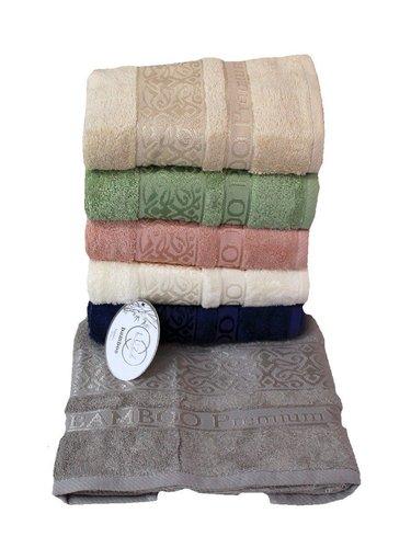 Набор полотенец для ванной 6 шт. Luzz PREMIUM бамбуковая махра 70х140, фото, фотография