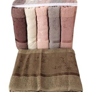 Набор полотенец для ванной 6 шт. Miss Cotton AZALIY хлопковая махра 70х140