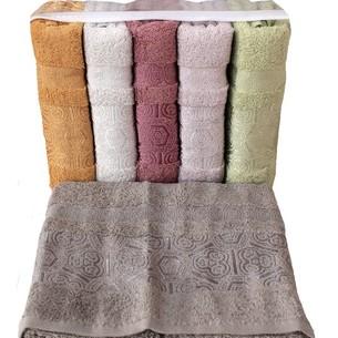 Набор полотенец для ванной 6 шт. Miss Cotton BAHAR хлопковая махра 70х140