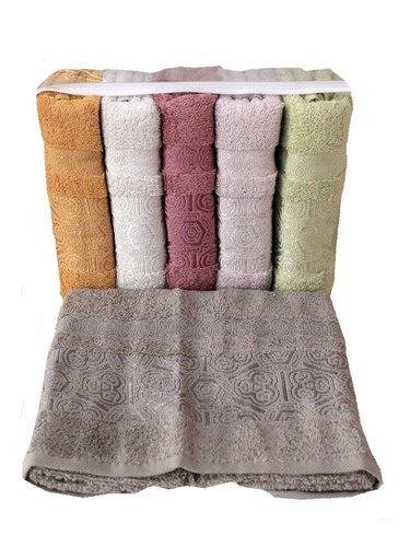 Набор полотенец для ванной 6 шт. Miss Cotton BAHAR хлопковая махра 50х90, фото, фотография