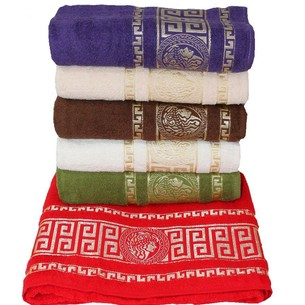 Набор полотенец для ванной 6 шт. Miss Cotton GREEK хлопковая махра 50х90