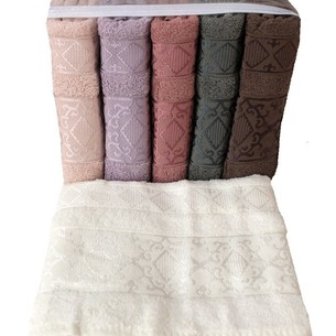 Набор полотенец для ванной 6 шт. Miss Cotton SIRMA хлопковая махра 70х140