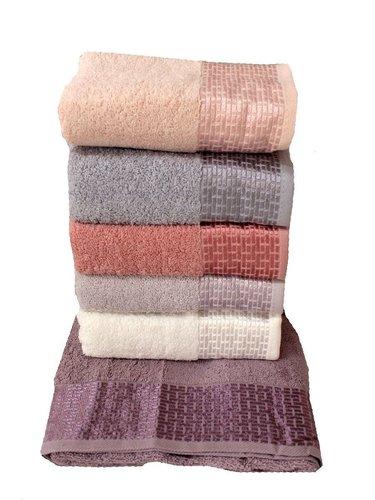 Набор полотенец для ванной 6 шт. Miss Cotton TUANA хлопковая махра 50х90, фото, фотография
