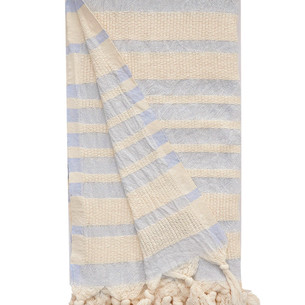 Полотенце пештемаль для пляжа, сауны, бани Begonville BEACON хлопок blue 90х180