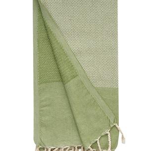 Полотенце пештемаль для пляжа, сауны, бани Begonville MYSTIA хлопок green 100х180
