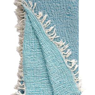 Полотенце пештемаль для пляжа, сауны, бани Begonville JEWEL хлопок turquoise 90х180