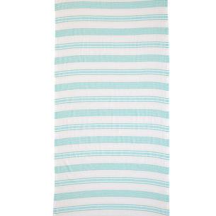 Полотенце пештемаль для пляжа, сауны, бани Begonville BREEZE LOU хлопок green 90х180