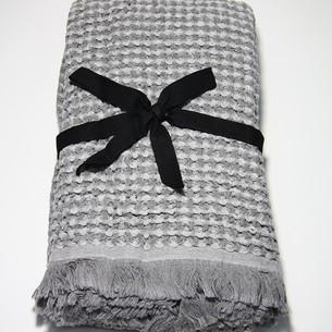 Полотенце пештемаль для пляжа, сауны, бани Begonville WAFFLE хлопок grey 90х180