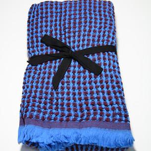Полотенце пештемаль для пляжа, сауны, бани Begonville WAFFLE хлопок blue 90х180