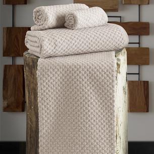 Полотенце для ванной Karna DAMA хлопковая махра бежевый 90х150