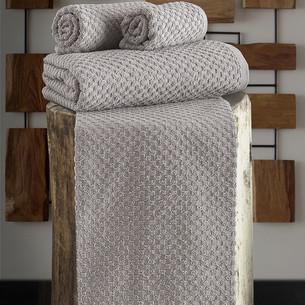 Полотенце для ванной Karna DAMA хлопковая махра кофейный 90х150