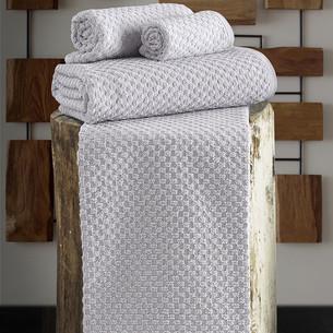 Полотенце для ванной Karna DAMA хлопковая махра серый 90х150