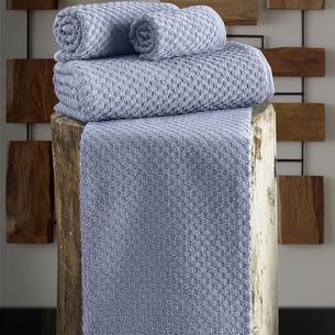 Полотенце для ванной Karna DAMA хлопковая махра голубой 90х150